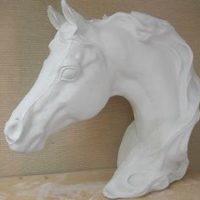 "doc holiday PK101  Large arabian horse head (HR 57) 13""H,15""L  bisqueware"