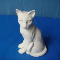 "ceramichrome  2759 simese cat w/detail  5.5""H  bisqueware"