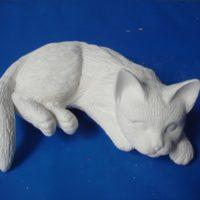 scioto 1284 napping shelf cat  (CT 29)  bisqueware