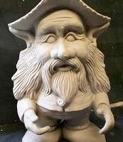 scioto TL 721: huckster gnome (GNOM21)  bisqueware