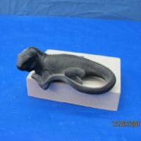 """scioto 3230 small sill sitter iguana (LIZ 2) 5""""L   bisqueware"""