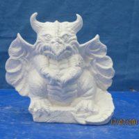 nowell 2155 dragon gargoyle (SP 234)  bisqueware