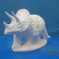 georgies 838 triceratop (SP 25)  bisqueware