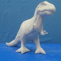 """gare 2557 Large tyrannosaurus rex  (SP 72)  14""""H  bisqueware"""