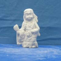 "kimple 2711 june indian calendar kid  5""L  bisqueware"