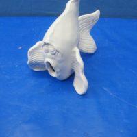 scioto TL 802  lge wazoo fish (WAVE) (FIS 52)  bisqueware