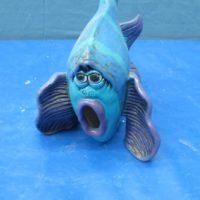 scioto TL 801small wazoo fish (FIS 51)  bisqueware