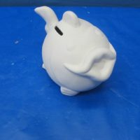 fish money box  bisqueware