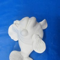 scioto TL797 wally wall fish (FIS102)   bisqueware