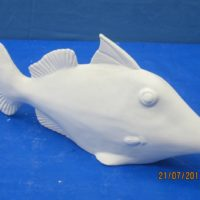 georgies 920 trigger fish (FIS 22)   bisqueware