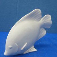 """scioto 3310 head forward tropical fish (FIS 19) 11.5""""L  bisqueware"""