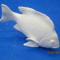 """scioto 3717 fry fish (FIS 49)  8""""L  bisqueware"""
