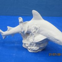 "ceramichrome 2630  shark (FIS 38)  6.25""H,11.75""W  bisqueware"