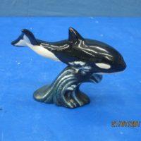 "atlantic 1757 sml atlantic whale baby (FIS 67)  6.75""L  bisqueware"