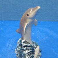 "ceramichrome 2895 dolphin on flipper  9""H  bisqueware"