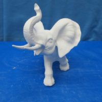 "scioto 505 africian elephant (EP 18)  8""H   bisqueware"
