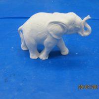 "scioto 506 sml elephant (EP 9)  3.5""H  bisqueware"