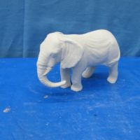 coles 877 female elephant (EP4)  bisqueware