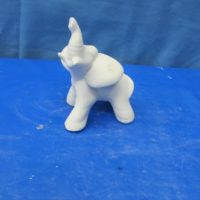 whitehorse 1327  sml elephant (EP 10)  bisqueware