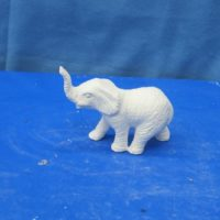 mikes 274 small baby elephant  (EP 8)  bisqueware