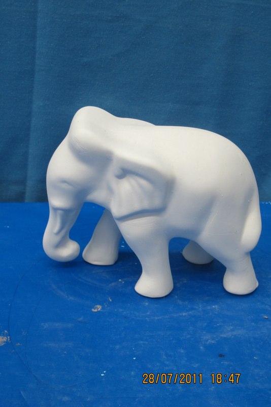 img 1280  indian elephant deco  bisqueware