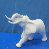 "gare 3053/3054 large elephant (EP 25)  12""L  bisqueware"