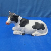 alberta 1013 cow lying (CO7)  bisqueware