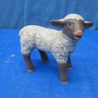 scioto 1709 sml standing lamb mouth open (SH 15)  bisqueware