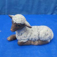 scioto   small lamb lying (SH 10)  bisqueware