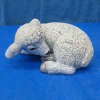 scioto 1557 lge curved lying sheep (SH 12)  bisqueware