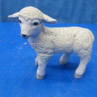 scioto 1708 sml standing lamb (SH 17)  bisqueware