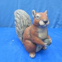 "scioto 2073 sitting squirrel w/acorn (SQ 1)  9""H  bisqueware"