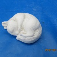 clay magic 1215 baby squrriel sleeping  (SQ 4)  bisqueware