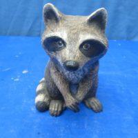 scioto 2069 sml sitting raccoon (RA 10)  bisqueware