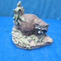 ceramichrome 1027 male raccoon in maize (RA 1)  bisqueware