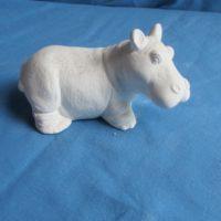 scioto 2475 sml standing hippo (FR 10)  bisqueware