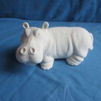 """scioto 2474 Lge standing hippo 8""""L  bisqueware"""