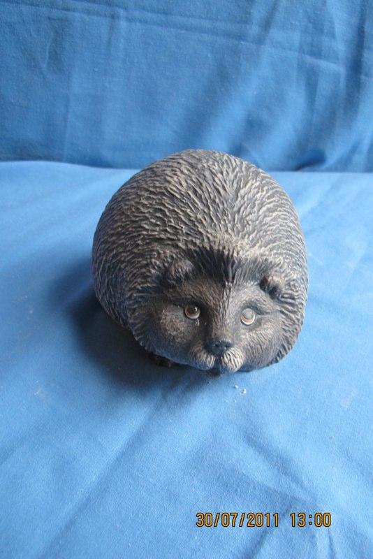 """gare 3042  medium garden hedgehog (HD 9)  5""""H  bisqueware"""