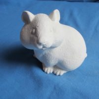 gare 3637 standing hamster (HD 18)  bisqueware