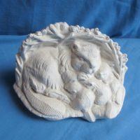 ceramichrome 968  beaver w/babies (KOB 4)  bisqueware