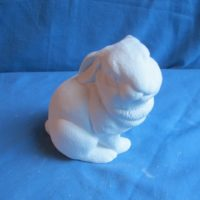 "duncan 1772 baby rabbit sitting (RB 24)  5.25""H  bisqueware"