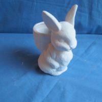 "ceramichrome 1169  bunny w/basket (RB 28) 6.5""H  bisqueware"