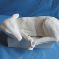 img 1431 lge sill sitter deer  bisqueware
