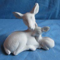 img 1433 deer w/baby  bisqueware