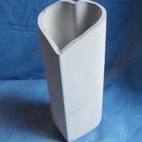 VASE 120 duncan 355E medium heart vase  bisqueware