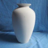 VASE138 plain vase  27cmH,17cmW  bisqueware
