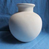 VASE 45 duncan 896 small deco lamp vase  19cmH,20cmW  bisqueware