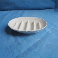 "duncan 1241 soap dish   5.5/8""L  bisqueware"