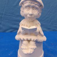 scioto TL561 sml grandma gnome sill sitter (GNOM9)   bisqueware