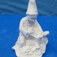 """doc holiday 1440 counter treasure gnome (GNOM 1)  6.1/2""""H  bisqueware"""